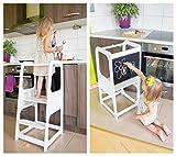 Torre de Aprendizaje Montessori - Plataforma de Madera para Trepar en la Cocina para...