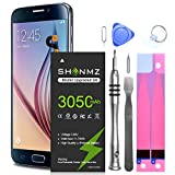 Galaxy S6 Battery,[Upgraded] 3050mAh Li-Polymer EB-BG920ABE Replacement Battery for Samsung Galaxy S6 SM-G920 G920V G920T G920A G920P G920I G920F S906L with Repair Tools [18 Month Warranty]