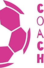 Coach: Pink and White Soccer Ball Coach Notebook and Journal