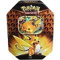 Pokemon TCG: SM11.5 Hidden Fates Gx Tin- Raichu + 1 of 3 Foil Pokémon-GX Cards + 4 Booster Pack from Pokemon