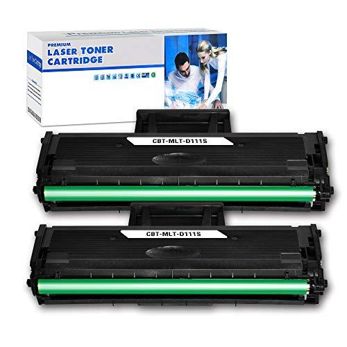 DOUBLE D D111S compatible para Samsung MLT-D111S Cartuchos Tóner para Samsung Xpress M 2026 M2026 M2026W M 2070 SL-M2070 SL-M2070W M2070F M2070FW M2020 M2020W M2022 M2022W (2 x Negro)