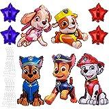 HONGECB Paw Dog Patrol Fiesta de Cumpleaños, Globos Patrulla Canina Cumpleaños, Paw Dog Patrol Foil Balloons for Kids Gift Fiesta de cumpleaños Suministros Decoración, 9 Piezas