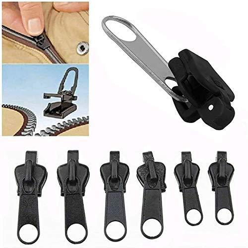 6 piezas de clip de cremallera instantánea y fijación rápida, kit de reparación de cremallera, kit de recuperación de cremallera de repuesto, kit de rescate, extensión de cremallera…