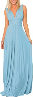 Women Transformer Convertible Bridesmaid Maxi Dress Multi-Way Wrap Evening Dress Formal Wedding Party Long Dresses