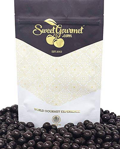 SweetGourmet Dark Chocolate Covered Espresso Coffee Beans | 1 Pound