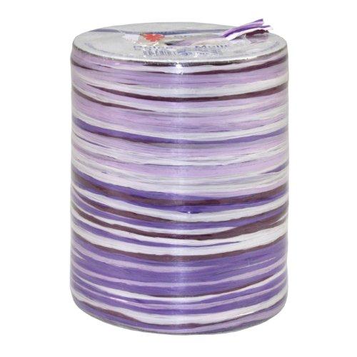 Präsent Bastband, lila-weiss, 50-m-Spule