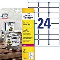 Avery Zweckform L4773-20ヘビーデューティホワイトラベル63,5 x 33,9 mm耐候性20枚/ 480ラベルホワイト