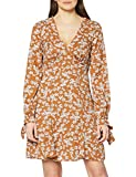 Marca Amazon - find. Mini Vestido Floral Mujer, Marrón (Brown), 42, Label: L