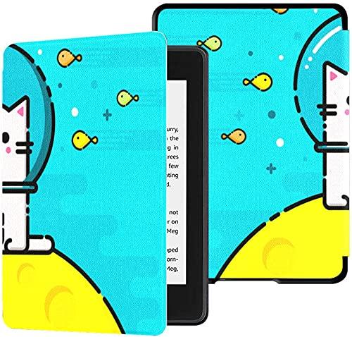 Funda para el Nuevo Kindle Paperwhite Funda de Tela Resistente al Agua (10.a generación, versión 2018), Funda para Tableta submarina con emoticonos Felices, pez Gato y pez