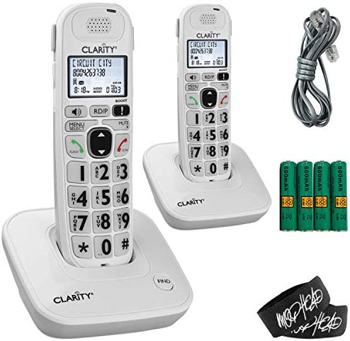 Clarity D704 Moderate Hearing Loss Extra Loud Big Button Amplified Cordless DECT 6 0 Phone Bundle product image