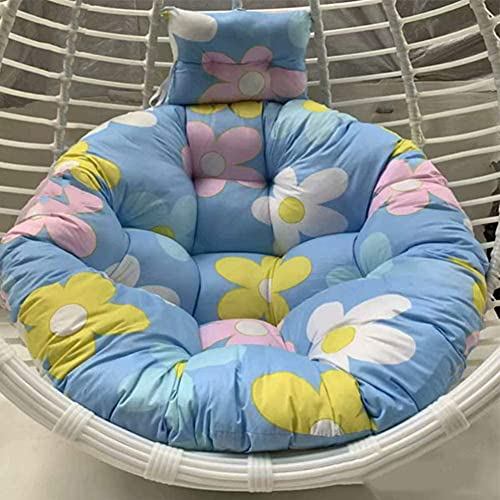 MUZIDP Thick Hanging Chair Swing Nest Cushion Removable Wash Comfortable Round Pad Hammock Seat Cushioning Chair Back with Pillow-e 100x100cm (Color : G, Size : 110x110cm(43x43inch))