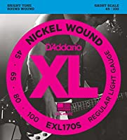 【数量限定】D'Addario EXL170S NICKEL WOUND SHORT SCALE [並行輸入品]