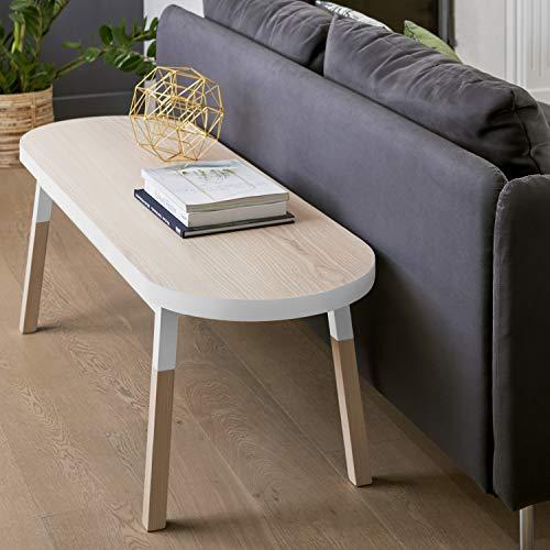 Mon pequeño mueble francés para la espalda del sofá – Banco blanco balístico, 100% fabricado en Francia