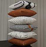 EFOLKI Boho Throw Pillow Covers for Couch and...