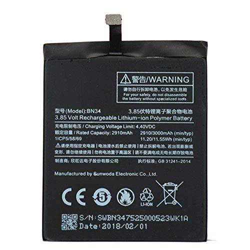 Todobarato24h BATERIA Compatible BN34 3000 mAh Compatible con Xiaomi REDMI 5A