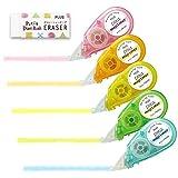 Plus marking tape Petit Moji liner soft touch all five colors set + eraser