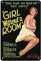 部屋なしの女の子ティンサインの装飾ヴィンテージの壁金属プラークレトロな鉄の絵カフェバー映画ギフト結婚式誕生日警告