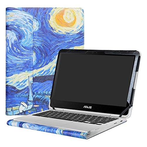 """Alapmk Spécialement Conçu Protection Housses pour 12.5"""" ASUS Chromebook Flip C302CA Ordinateur Portable,Starry Night"""
