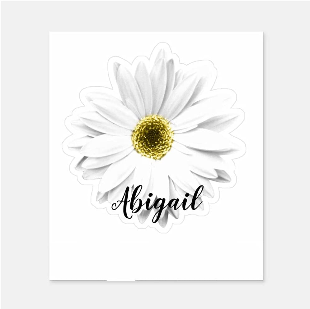 Personalized Stickers White Daisy Flower Baltimore Mall Name Sticker San Antonio Mall for Adult