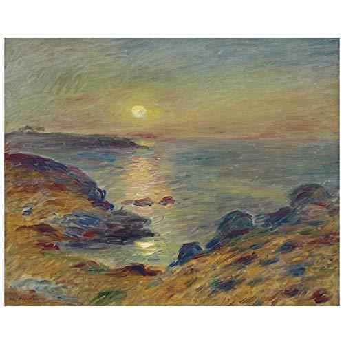 Legendarte Pierre Auguste Renoir Sonnenuntergang in Douarnenez Kunstdruck auf Leinwand, cm.80x100
