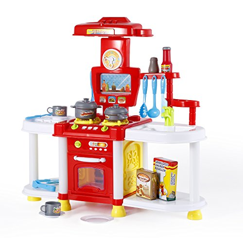 【ノーブランド品】子供 キッチンセット ままごと 知育玩具 キッチンセットおもちゃ 誕生日/クリスマスプレゼント