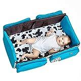Somedays 3 In 1 Tragbares Reisebett Für Baby Multifunktionale Klappbett Krippe Mit Moskitonetz Große Kapazität Mummy Bag Outdoor Messenger Handtasche Mom Umhängetasche
