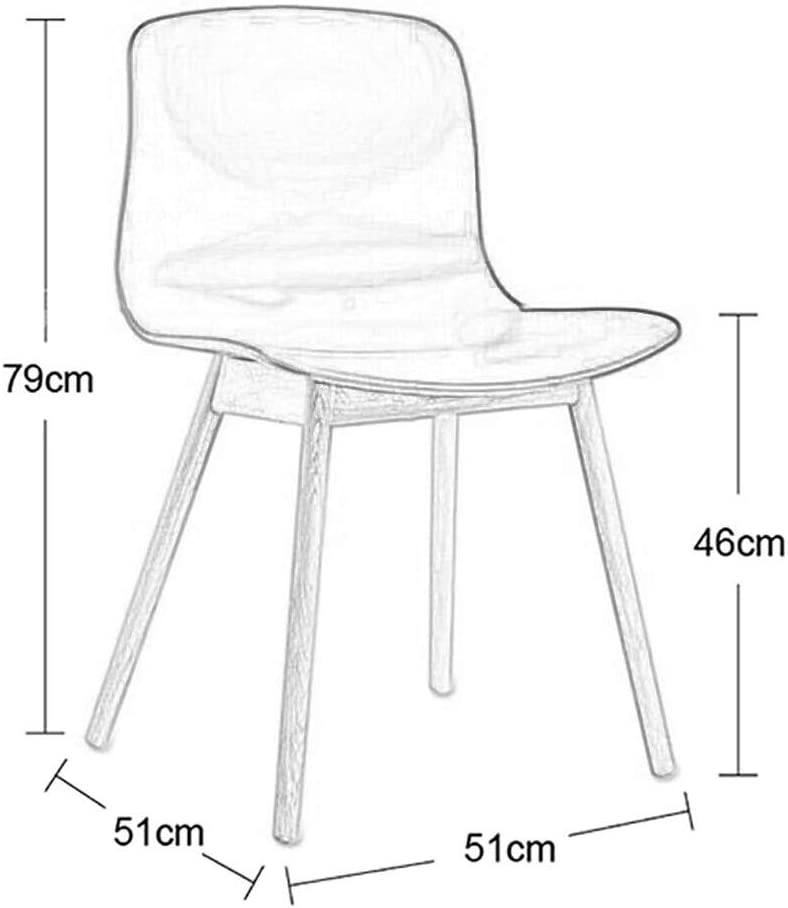 HURONG168 Chaises de cuisine Chaise de salle à manger design minimaliste moderne nordique siège lounge (Couleur : Black-Yellow) Wood-yellow