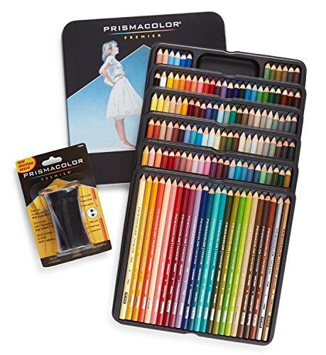 Prismacolor Premier lápices de colores, suave Core, 132unidades (4484) con Premier sacapuntas (1786520)