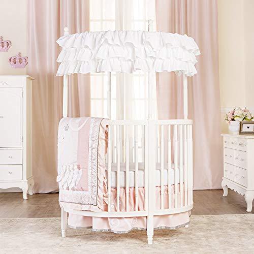 Dream On Me Sophia Posh Circular Crib in White
