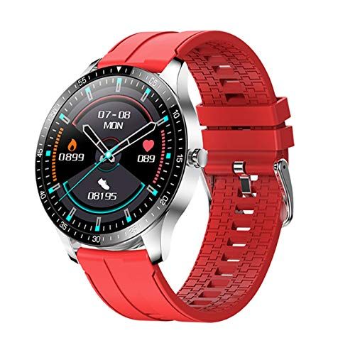 LJMG S80 Smart Watch Men's Sports Impermeable IP68 Sleep Heart Rate Fitness Tracker 2021 Mujer Smartwatch para iOS Android,B