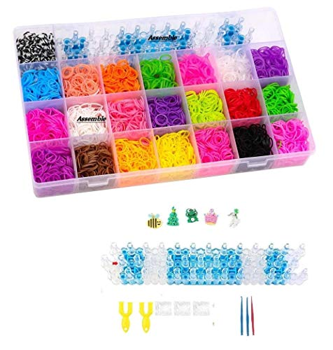 Assemble Color DIY Loom Band Kit with 4200 Colourful Rubber Bands .