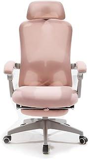 Chaise de bureau pour gaming, fauteuil de bureau en coton avec repose-main, repose-pieds, utilisable pour chambre et burea...