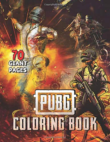 PUBG COLORING BOOK: More than 70 pages from Amazing drawings: Characters, Weapons, grenade, Drop,car, the pan, energy drink, pain killers and more !