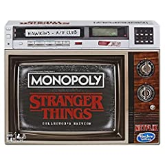 Stranger things theme: This Monopoly game has a stranger things theme, inspired by seasons 1-3 of the popular Netflix original series Collector's edition The Monopoly: stranger things collector's edition game is awesome for Stranger Things fans; It f...