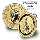 2020 P 1/10 oz Australian Gold Kangaroo Brilliant Uncirculated with Certificate of Authenticity by CoinFolio $15 BU