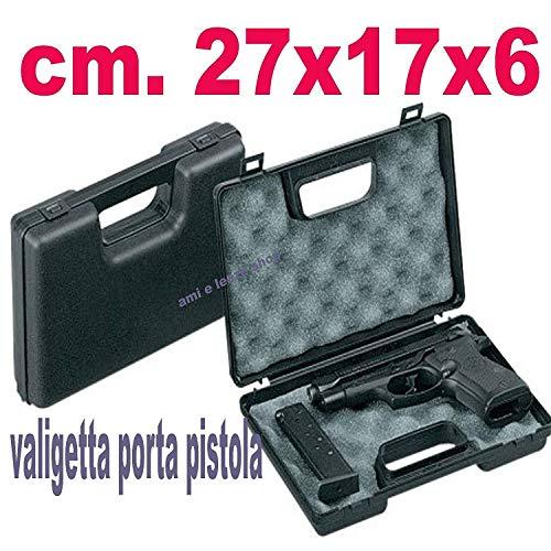 Generico Valigetta Porta Pistola Custodia PORTAPISTOLA Pistole Imbottita Media POLIGONO PLASTICA
