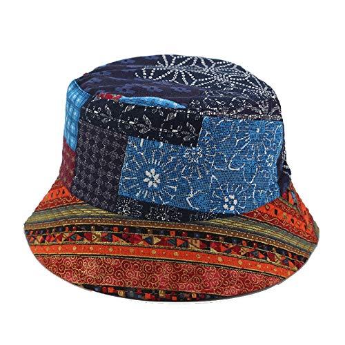 PPSTYLE Sombrero Unisex De Lona De Panamá Sombrero De Viento Nacional Negro Sombrero De Lavabo De Doble Cara Sombreros De Viaje Al Aire Libre Sombrero De Senderismo-2