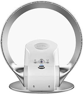 Ventilador de torre sin aspas con control remoto de 5 m, Montado en la pared y escritorio de doble uso, Ventilador oscilante 90 °, temporizador 1-2H, Ventilador Portátil para Dormitorio Salones,Blanco