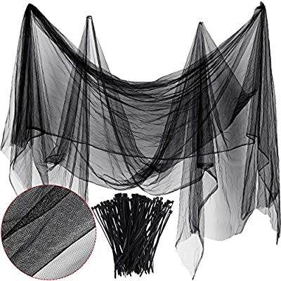 Zonon Bug Insect Mosquito Fly Bird Net Barrier Hunting Blind Plant Protecting Garden Netting (3 m x 4 m, Black)