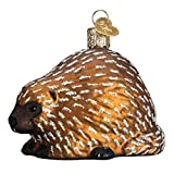 Old World Christmas Wildlife Animals Glass Blown Ornaments for Christmas Tree Porcupine
