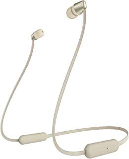 ソニー ワイヤレスイヤホン WI-C310 : Bluetooth対応/最大15時間連続再生/マイク付き フラットケーブル採用 2019年モデル ゴールド WI-C310 NC
