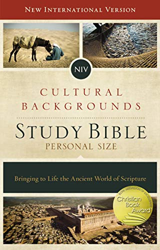 NIV, Cultural Backgrounds Study Bible, Personal Size, Hardcover, Red Letter: Bringing to Life the Ancient World of Scripture