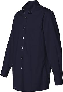 Men's Regular Fit Twill Solid Button Down Collar Dress Shirt