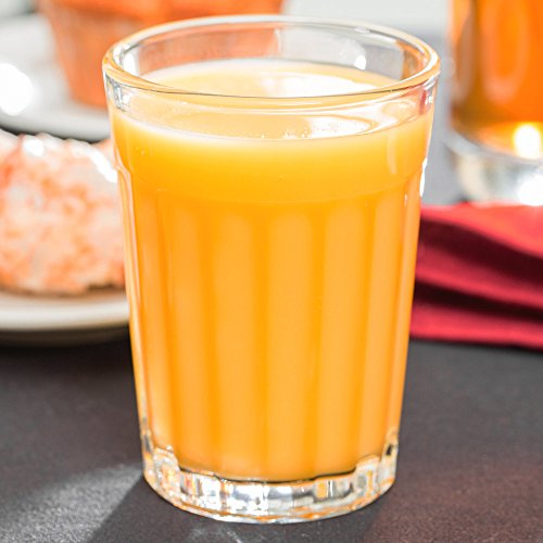 Set of 6 Libbey 15640 DuraTuff 8.5 oz Paneled Juice Glass w/Signature Party Picks