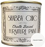 Shabby Chic Chalk Paint Pintura para muebles con acabado mate, color blanco tiza (Chalky White) 250 ml.