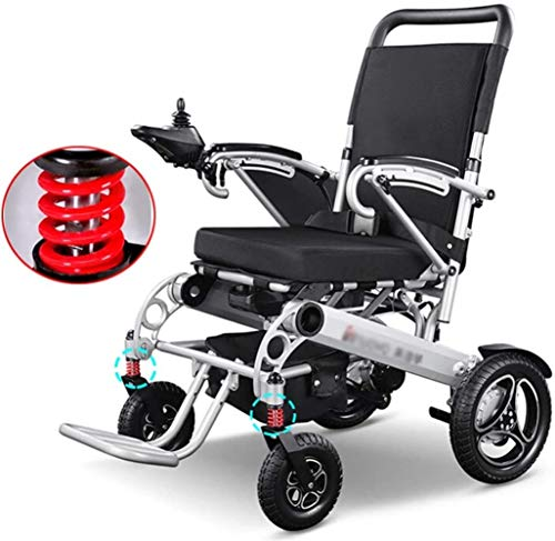 Power Wheelchair Lightweight Folding Electric Power Wheelchair Mobility Aid for Adults, Aviation Travel Safe Mobility Aid Wheelchair,outdoor Portable Power Chair Suitable for Elderly and Disabled