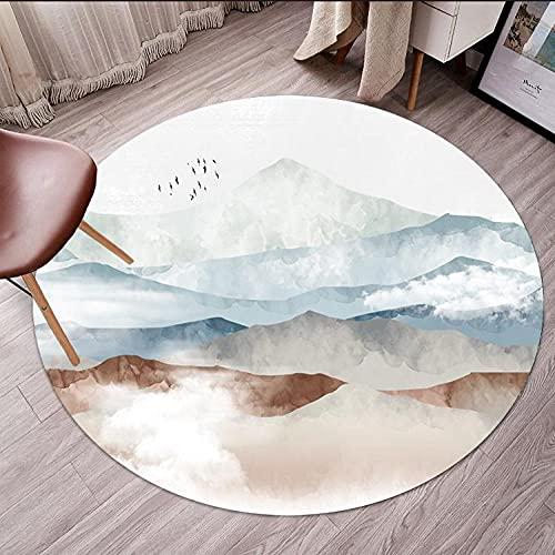 Silla de escritorio de patrón abstracto para alfombra para piso de madera,Protector de alfombra dura redonda para piso de madera,Φ31 Protector de piso para silla rodante para piso de madera dura