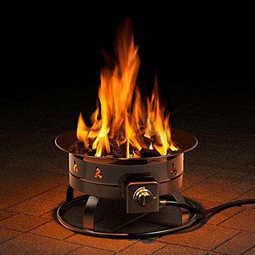 CASART Gas Fire Pit, Portable Camping Fishing 58000 BTU Heater, Outdoor Garden Patio Propane Fire Bowls