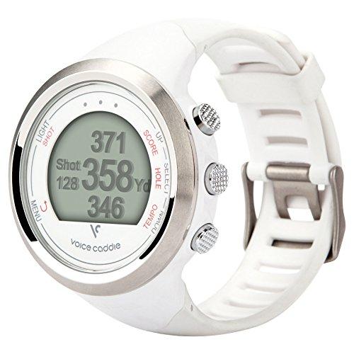 VOICE CADDIE T1 Hybrid Golf Watch - White