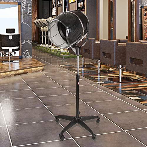 Samger Sèche-cheveux Professionnel 900W sur Pied Casque Sechoir Réglable en Hauteur avec Minuterie 60min pour Salon, Maison